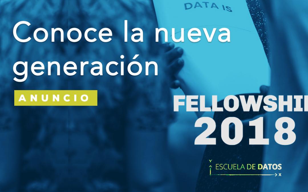 Te presentamos a la generación 2018 de fellows de Escuela de Datos