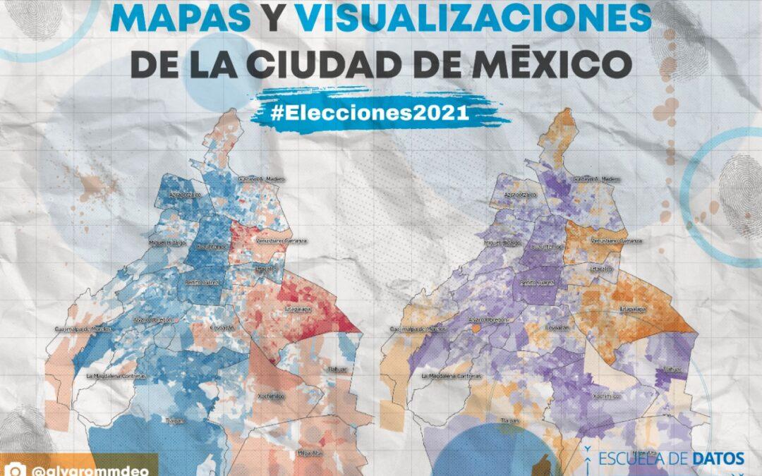 Mapas para entender los resultados electorales en la CDMX